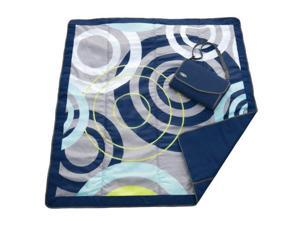 JJ Cole Outdoor Blanket, Blue Orbit J00438