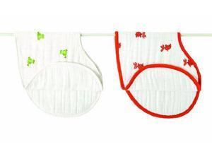 aden + anais 100% Cotton Muslin Burpy Bib, Mod About Baby, 2 7027 ADEN + ANAIS