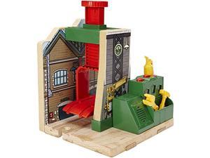 Fisher-Price Thomas the Train Wooden Railway Steamworks Lift and Repair Train Set FRPU0146