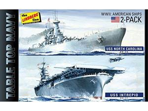 1/1200 Tabletop Navy 2 Pack #1: All Am WWII Ships LNDS0419 Lindberg