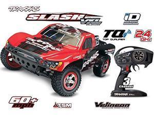 Traxxas 58076-3 1/10 Slash VXL 2WD BL SC Racing Truck, Colors Vary TRAD38**