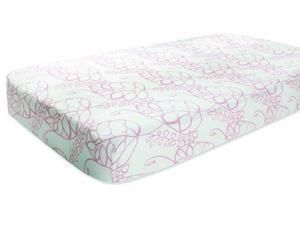 Aden + Anais Muslin Crib Sheet, Tranquility Leafy 9601 ADEN + ANAIS