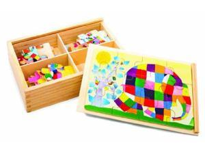 Elmer The Patchwork Elephant: Wood Puzzle 95238 Kids Preferred