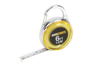 MAXCRAFT 60404 6-Feet Mini Clip-On Tape Measure 60404