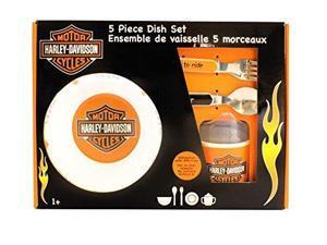 Kids Preferred Harley Davidson Melamine Feeding Set, Orange/Black (Discontinued by Manufacturer) 20326