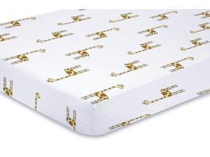 aden + anais Classic Muslin Crib Sheet, Jungle Jam - Giraffe 8608 ADEN + ANAIS