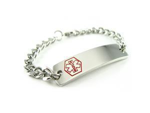Steel Pacemaker Medical Alert ID Bracelet, Pre-Engraved