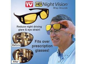HD Night Vision Wrap Around Glasses - Fits over Prescrition Glasses