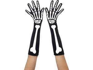 Skeleton Print Gloves Smiffys 28416
