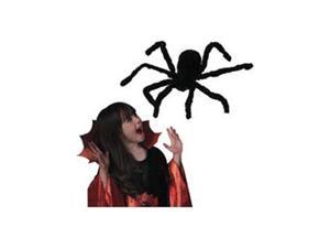 30 Inch Black Furry Spider Halloween Decoration