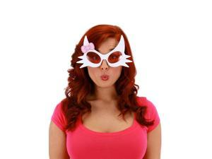 White Kitty Glasses with Pink Lens and bow by Elope Costumes 331832