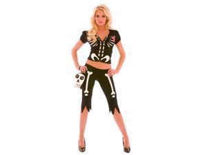Adult Chloe Bones Skeleton Costume Elegant Moments 9123