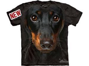 Daschund Head Adult T-Shirt by The Mountain - 10-3334