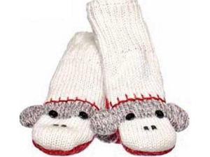 Kids Cute Sock Monkey Mittens by Knitwits - AK2309
