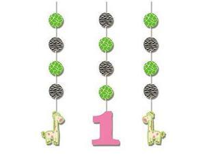 Wild At One Giraffe Hanging Cutouts by Creative Converting - 995688