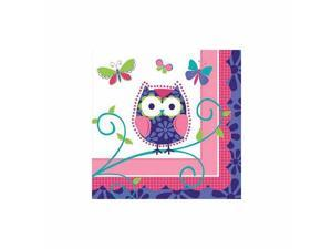 Owl Pal Birthday Beverage Napkin by Creative Converting - 655624
