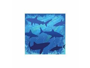 Shark Splash Beverage Napkin by Creative Converting - 655887