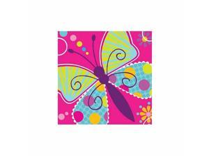 Butterfly Sparkle Beverage Napkin by Creative Converting - 655691