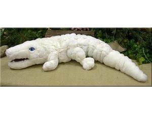 "White Alligator Plush Toy 36"" L"