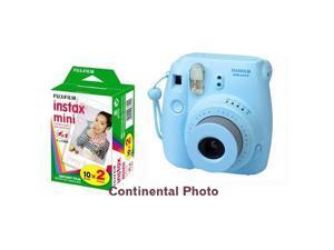 Fuji Fujifilm instax mini 8 Blue Instant Polaroid Camera + 20 Prints Instax Film