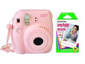 Fuji Instax Mini 8 Pink Instant Fujifilm Camera + 10 Prints