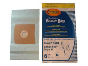 Type H Riccar® Vacuum Cleaner Replacement Bags by Envirocare® (6 Pack)