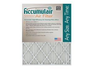 16x25x1 (15.75 x 24.75) Accumulair Platinum 1-Inch Filter (MERV 11) (6 Pack)