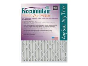 10x15x2 (9.5 x 14.5 x 1.75) Accumulair Diamond 2-Inch Filter (MERV 13) (2 Pack)