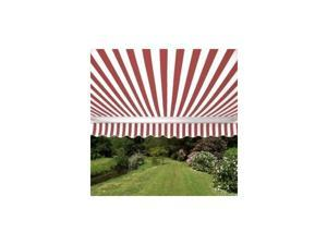 ALEKO® Retractable 10' X 8' Patio Awning 10ft x 8ft (3m x 2.5m) Red and White Stripe Color