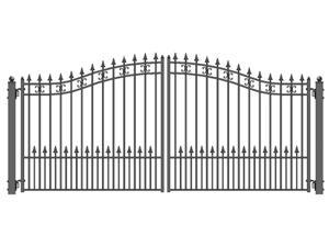 ALEKO® St.Petersburg Style Swing Dual Steel Driveway Gates 12' X 6 1/4'