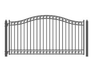 ALEKO Dublin Style Single Swing Steel Driveway Gate 12' X 6 1/4'