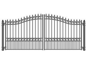ALEKO® London Style Swing Dual Steel Driveway Gates 12' X 6 1/4'