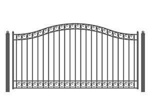 ALEKO Dublin Style Single Slide Steel Driveway Gate 12' X 6 1/4'