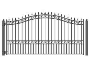 ALEKO London Style Single Swing Steel Driveway Gate 12' X 6 1/4'