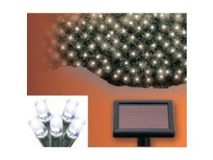 Aleko SL5804-N200W Solar Powered White 200 LED Net Lights For Christmas, Wed...