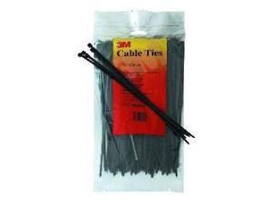4 Nylon Cable Ties  Black 100-Pack