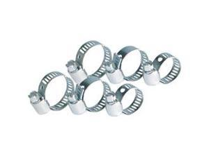 Adjustable Metal Hose Clamps 6-Pack Assortment