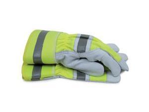 Hi-Visibility Goat Leather Work Gloves  Large