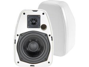 ADATTO DV-52SIW 5.25 Inch 2-Way Indoor Outdoor 150-Watt Speakers White Weather-Resistant Abs Enclosure