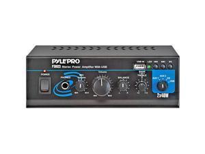 PTAU23 80 Watt Mini Stereo Power Amplifier Usb 3.5mm Auxiliary Cd/Mp3 Input Jack