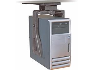 CS200MB Under Desk Black Steel CPU Holder With 360 Degree Swivel