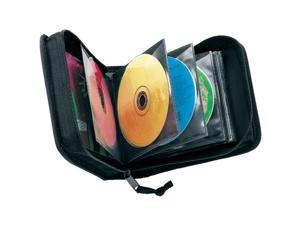 CDW-32 BLACK Black 32-CD Nylon Media Wallet