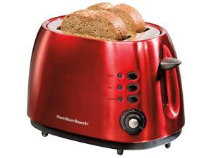 22524E 2 Slice Cherry Red Toasterbagel Defrost Cancel F