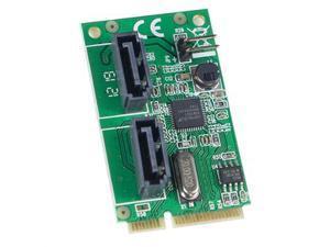 Mini PCI-e 2 Port Sata 6g Card, Non-raid