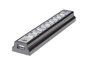 10-port High Speed USB 2.0 Hub W/ AC Adapter