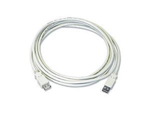 USB 2.0 Extension Cable  Am / Af  6 Ft  Beige