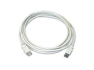 USB 2.0 Extension Cable  Am / Af 10 Ft  Beige