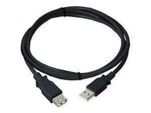 Ziotek 131 1033 Ziotek USB 2.0 Cable A Male To A Female, Black, 3ft