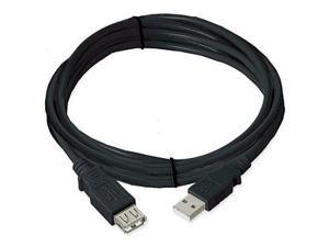 Ziotek 131 1035 Ziotek USB 2.0 Cable A Male To A Female, Black, 10ft