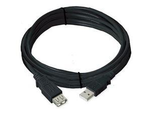 Ziotek USB 2.0 Cable A Male To A Female, Black, 15ft